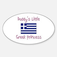Daddy's little Greek Princess Oval Decal
