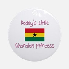 Daddy's little Ghanaian Princess Ornament (Round)