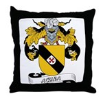 Acuna Family Crest Throw Pillow