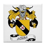 Acuna Family Crest Tile Coaster