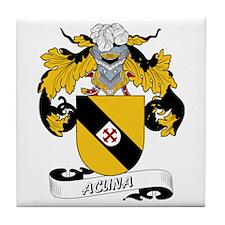 Acuna Family Crest Tile Coaster