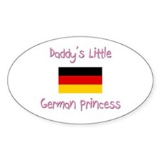 Daddy's little German Princess Oval Decal