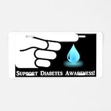Diabetes Support Aluminum License Plate