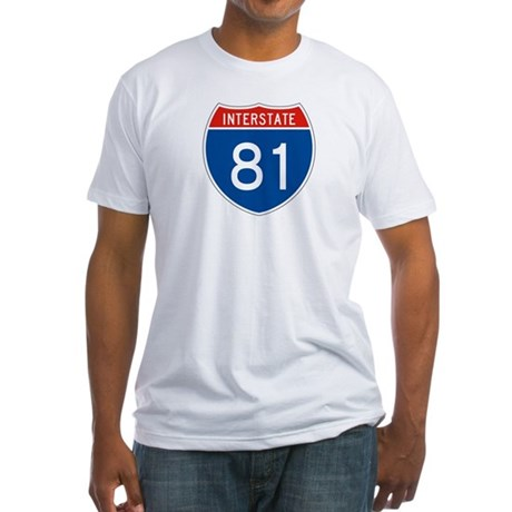 Interstate 81, USA Fitted T-Shirt