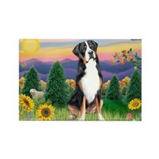 Country Sunset / GSMD Rectangle Magnet