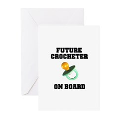Baby On Board - Future Crocheter Greeting Cards (P