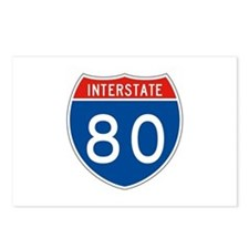Interstate 80, USA Postcards (Package of 8)