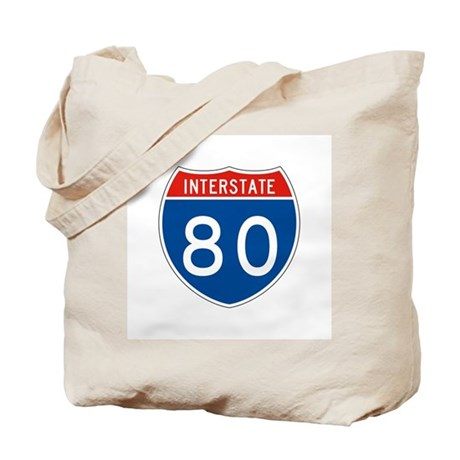 Interstate 80, USA Tote Bag