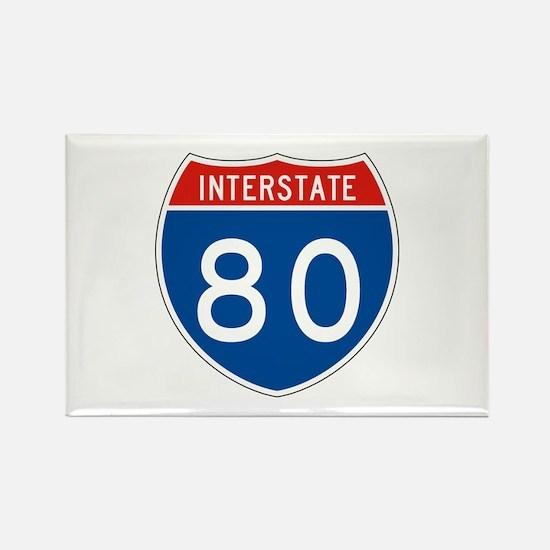 Interstate 80, USA Rectangle Magnet