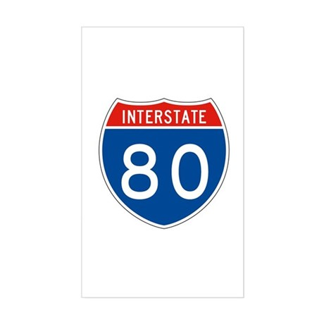 Interstate 80, USA Rectangle Sticker