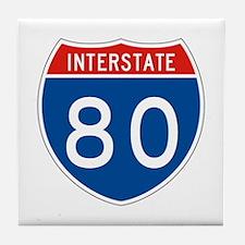 Interstate 80, USA Tile Coaster