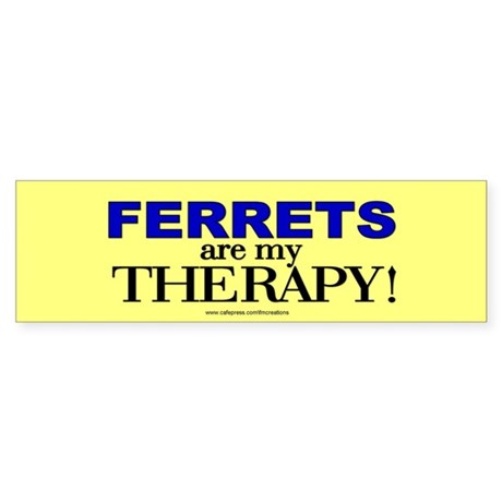 Ferret Therapy Bumper Sticker