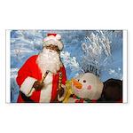 Evil santa Rectangle Sticker 50 pk)