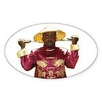 Blackanese Oval Sticker (50 pk)