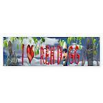I love Reh Dogg Bumper Stickers (50)
