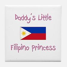 Daddy's little Filipino Princess Tile Coaster