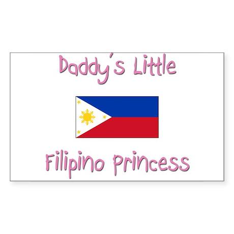 Daddy's little Filipino Princess Sticker (Rectangl