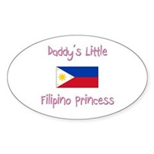 Daddy's little Filipino Princess Oval Decal