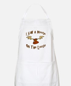 Moose On The Loose BBQ Apron
