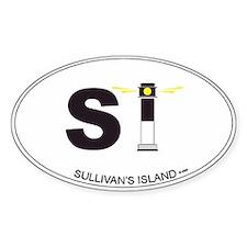 Sullivan's Island Oval Bumper Stickers