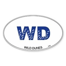 Wild Dunes Oval Decal