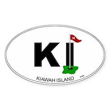 Kiawah Island Oval Bumper Stickers