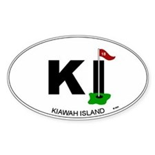 Kiawah Island Oval Decal