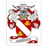 Aguirre Family Crest Small Poster