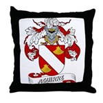 Aguirre Family Crest Throw Pillow