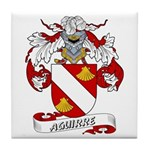 Aguirre Family Crest Tile Coaster