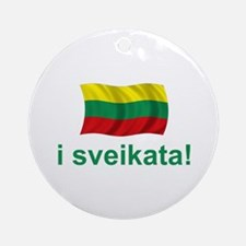Lithuanian i sveikata! Ornament (Round)