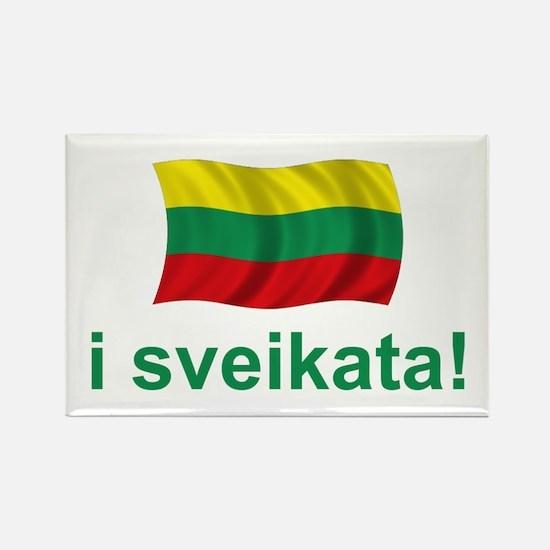 Lithuanian i sveikata! Rectangle Magnet