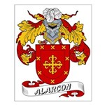 Alarcon Family Crest Small Poster