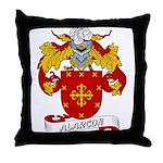 Alarcon Family Crest Throw Pillow