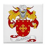 Alarcon Family Crest Tile Coaster
