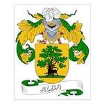 Alba Family Crest Small Poster