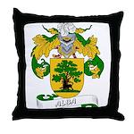 Alba Family Crest Throw Pillow