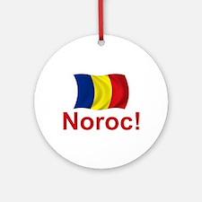 Romanian Noroc! Ornament (Round)