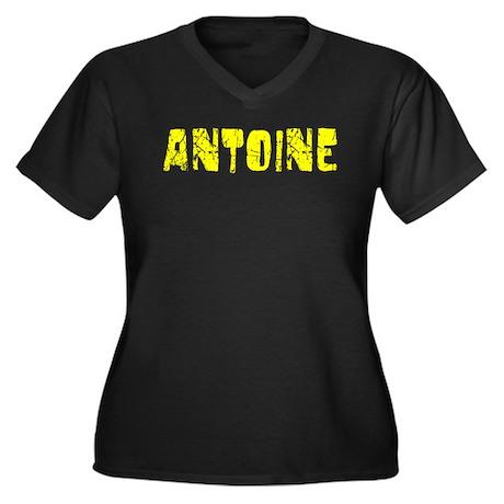 Antoine Faded (Gold) Women's Plus Size V-Neck Dark