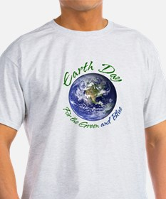 Earth Day Green and Blue T-Shirt