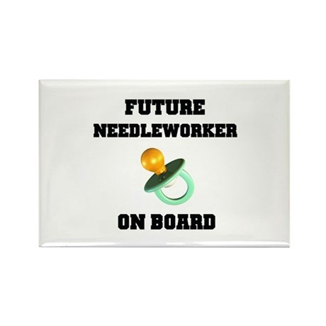 Future Needleworker on Board - Maternity Rectangle