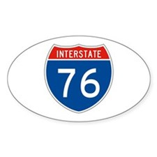 Interstate 76, USA Oval Decal