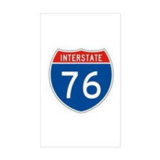 Interstate 76, USA Rectangle Decal