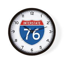 Interstate 76, USA Wall Clock