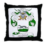 Alcala Family Crest Throw Pillow