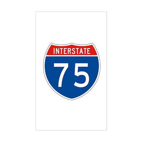 Interstate 75, USA Rectangle Sticker