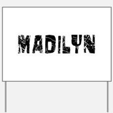 Madilyn Faded (Black) Yard Sign