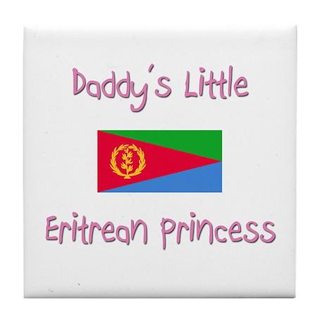 Daddy's little Eritrean Princess Tile Coaster