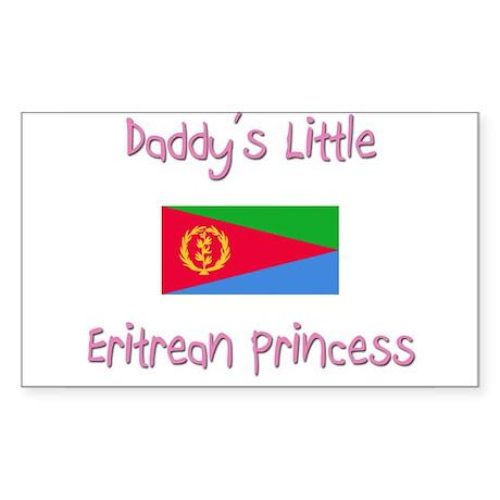 Daddy's little Eritrean Princess Sticker (Rectangl