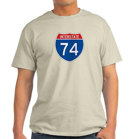 Interstate 74, USA Light T-Shirt